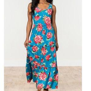 Matilda Jane No End Blue Floral Maxi Dress Sz M
